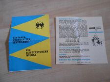 Vertrags Werkstätten Verzeichnis Weimar