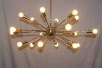 Modern Brass Mid century style starburst sputnik light fixture - 18 Arm sputnik