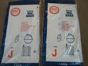 8 DVC BRAND Hoover Type J Vacuum Cleaner Bags - Constellation Portable Slimline