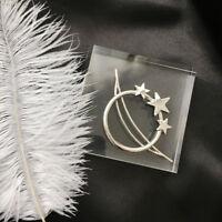 Women Fashion Geometry Moon Star Hair Clip Hairpins Barette Hair Accessories