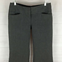 Express Editor womens size 6 stretch gray mid rise flat front wide bootcut pants