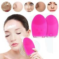 Brosse Nettoyante pour le visage Massage,Silicone,Rechargeable Imperméable USB