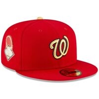 Washington Nationals New Era 2020 Gold Program 59FIFTY Fitted Hat - Red
