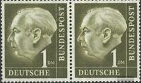 BRD (BR.Deutschland) 194x waagerechtes Paar postfrisch 1954 Heuss