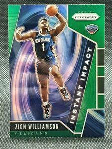 Zion Williamson 2019-20 Prizm Instant Impact rookie green parallel