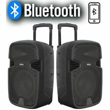 "CASSE ACUSTICHE AMPLIFICATE ATTIVE 900W 10"" BLUETOOTH RADIO USB TROLLEY karaoke"