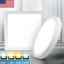 6w 24w Led Ceiling Down Light Panel Surface Mount Kitchen Bedroom Fixture Lamp