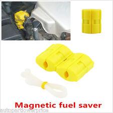 2pcs Car Magnetic Fuel Saver Reduce Emission Power Saver Universal Petrol Diesel