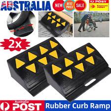 2x Kerb Ramps Heavy Duty Rubber Portable Curb Gutter Trucks Cars Hand Trolleys