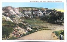 Scenic Highway #10 in the Bad Lands, North Dakota Postcard