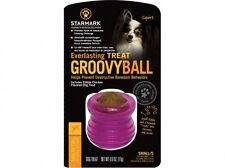 Starmark Everlasting Groovy Ball Small Dog Treat Toy