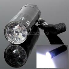Wholesale Portable 9 LED Mini Supper Bright Light Flashlight Torch for Camping