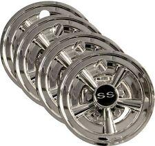 "4 Golf Cart Accessories 4x 8"" Chrome Wheel Covers for EZGO Club Car Yamaha Carts"