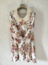 Liz Lisa White&Rose Dress Onepiece  long sleeves Size0 Women's S-M From Japan