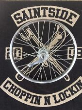 "Dragster Bicycle 20"" 36 Spoke CrossLace 3 SPD Rear Wheel Tube&LowriderWhiteTyre"
