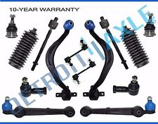 New 14pc Front Lower Control Arm w/ Ball Joint + Inner & Outer Tie Rod Kit