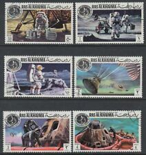 Ras al Khaima 1972 used Mi.708/13 A Apollo 14 Rückkehr Return Mondflug Moonshot