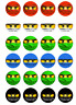 24 x 4cm Personalised Lego Ninjago Eyes Birthday Stickers Party Bag Thank You