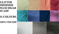 LADIES Plain Maxi Shimmer Pattern Big Large Scarf Shawl Hijab Sarong glitter