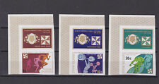 cook islands 1974 Sc 374/6 three imperf stamps + label,MNH       m2223