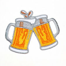 Cheers Draught Beer Irish Alcoholic Drink Biker Rock Punk Clothing Iron on Patch