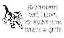Personalised Labels Cat  / Address / Hobbies / 260 set design Cat 2