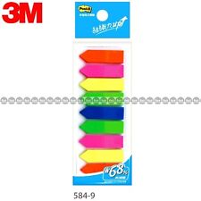 3m Post It Flags 584 9 9 Colors Bookmark Point Sticky Note Plastic Paper Index