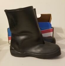 New Black Pack Lite Rubber Mens Boots Overshoes Size 9 Galoshes