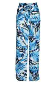 NWT LA BLANCA Size Large Two Cool Cover-up Pants in Blue Lightweight $99