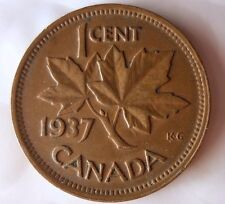 1937 CANADA CENT - Excellent Collectible Coin- FREE SHIPPING - Big Canada Bin