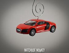 Custom Red '07 '08 '09 Audi R8 4.2 FSi Quatro 2 Door Coupe Christmas Ornament