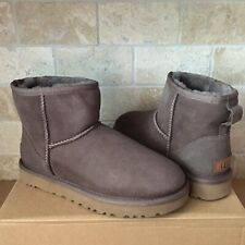 UGG Classic Mini II Mole Water-resistant Suede Ankle Boots Size US 6 Womens