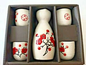 Japanese Sake Set with 4 Cups - SK022 Cherry Blossom
