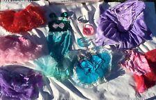 Halloween Disney Princess Dress Up Lot Pretend Play 4-6 Yr Costume Gown