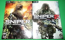 Sniper: Ghost Warrior And Ghost Warrior 2 PC 2-Pack Factory Sealed! Free Ship!