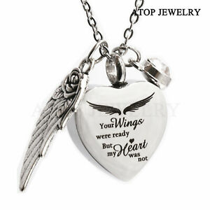 NEW Heart Urn Necklace for Ashes with 12 colors Birthstones Cremation Jewelry