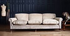 George Smith 3 Seat 8ft Grand Sofa to be Reupholstered in Hand Dyed Leather