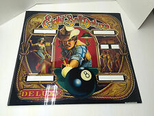 Eight Ball Deluxe 8 Bally Pinball Backglass NOS 1984 SLIDE OUT 26 By 24 & 5/8s
