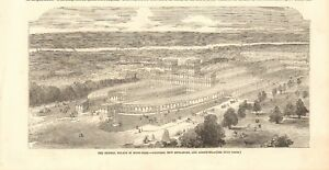 1852  ANTIQUE PRINT - PROPOSED EXTENSIONS TO THE CRYSTAL PALACE