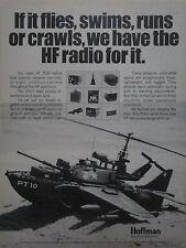 2-6/1975 HOFFMAN NAVCOM SYSTEMS HF SSB RADIO ARMY SOLID STATE ORIGINAL AD