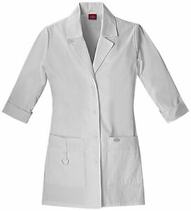 "Dickies EDS 82402 Women's 30"" Lab Coat Medical Uniforms Scrubs"