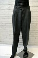 Pantalone Uomo HUGO BOSS Taglia 48 Pants Man Lana Vergine Grigio Jeans