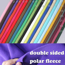 "Double-sided Polar fleece fabric anti-pilling Hoodies blankets coats 60"" BTY"
