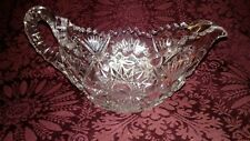Vintage Cut Glass Pinwheel Cream Pitcher