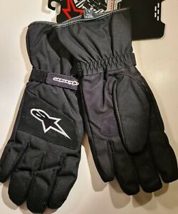 Alpinestars Radiant Drystar Waterproof Motorcycle Textile Motorbike Gloves Blk L