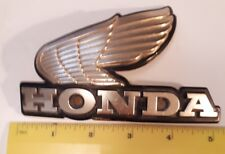 "**VINTAGE ""HONDA MOTORCYCLE  EMBLEM - YEAR OR MODEL TO FIT UNKNOWN - CURVED"