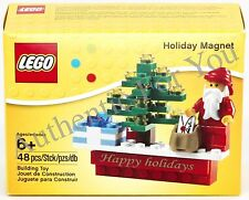 New 2015 LEGO Holiday Magnet with Santa and Christmas Tree