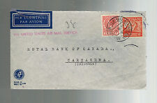 1938 Amsterdam Netherlands Cover to Royal Bank of Canada Cartagena Colombia