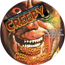 CREEPY MAGAZINE - 142 ISSUES - PDF FILES - HORROR, MONSTER, HAUNTED, MACABRE-CD