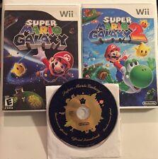 ** Super Mario Galaxy 1 & 2 (Wii) - Lots Of Fun!! Both CIB+Soundtrack!!